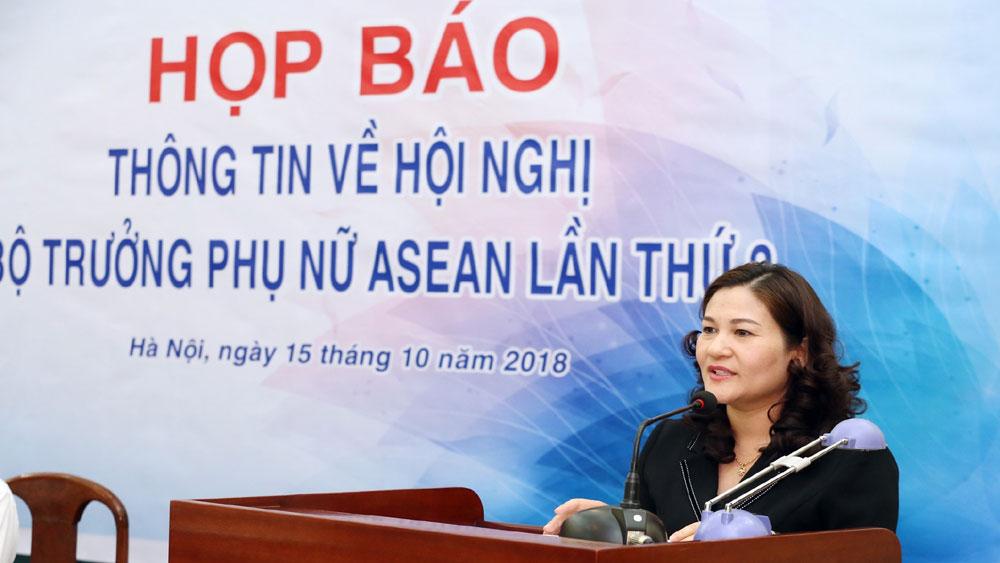 Hội nghị Bộ trưởng Phụ nữ ASEAN (AMMW) lần thứ 3 và các cuộc họp liên quan diễn ra từ ngày 18 đến 25-10